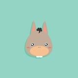 Cartoon donkey face Stock Image