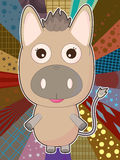 Cartoon Donkey Isolated_eps Stock Photos