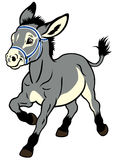 Cartoon donkey Stock Image
