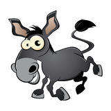 Cartoon donkey or mule Royalty Free Stock Photo