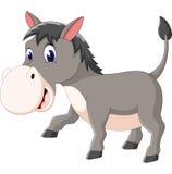 Cartoon donkey smile and happy Royalty Free Stock Photos