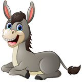 Cartoon donkey smile and happy Stock Photography