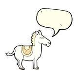 Cartoon donkey with speech bubble Royalty Free Stock Image