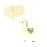 Cartoon donkey with speech bubble Royalty Free Stock Photography