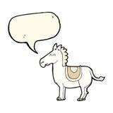 Cartoon donkey with speech bubble Royalty Free Stock Photos