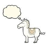 Cartoon donkey with thought bubble Royalty Free Stock Photo