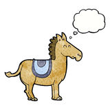 Cartoon donkey with thought bubble Royalty Free Stock Image