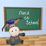 Cartoon Donkey wrote in classroom Royalty Free Stock Photography
