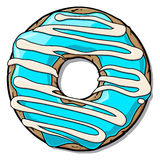 Cartoon donut Royalty Free Stock Photography