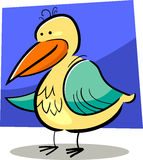Cartoon doodle of bird Royalty Free Stock Photography