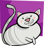 Cartoon doodle of cat Royalty Free Stock Photography