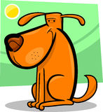 Cartoon doodle of cute dog Stock Photography