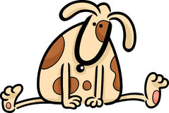 Cartoon doodle of cute spotted dog Royalty Free Stock Images