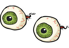 Cartoon doodle eyes Royalty Free Stock Photos