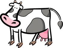 Cartoon doodle of farm cow Royalty Free Stock Image