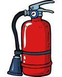 Doodle fire extinguisher. Cartoon doodle fire extinguisher on a white background vector illustration Royalty Free Stock Photo