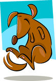 Cartoon doodle of happy dog Royalty Free Stock Photos