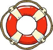 Cartoon doodle lifebuoy Royalty Free Stock Photography