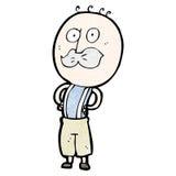 Cartoon doodle man Royalty Free Stock Image