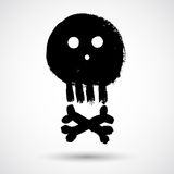 Cartoon doodle pirate skull Stock Images