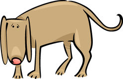 Cartoon doodle of sad dog Stock Image