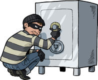 Cartoon doodle safecracker Royalty Free Stock Images