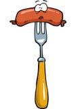 Cartoon doodle sausage Stock Photography