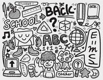 Cartoon doodle school Stock Image
