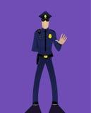 Cartoon doodle security policeman Royalty Free Stock Image