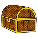 Cartoon doodle of a treasure chest. A creative illustrated cartoon doodle of a treasure chest vector illustration