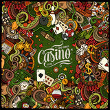 Cartoon doodles casino frame design Stock Photos