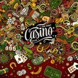 Cartoon doodles casino frame design Stock Photography