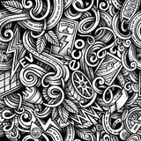 Cartoon doodles Electric cars season seamless pattern Stock Photo