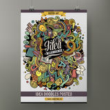 Cartoon doodles Idea poster Royalty Free Stock Images