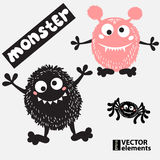 Cartoon doodles monster for halloween Stock Photography