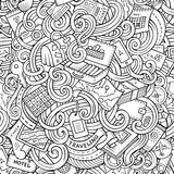 Cartoon doodles travel planning seamless pattern Royalty Free Stock Photos