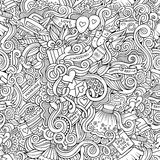 Cartoon doodles wedding seamless pattern Royalty Free Stock Image