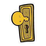 cartoon door knob Stock Images
