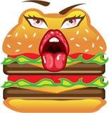 Cartoon Double Cheeseburger vector Royalty Free Stock Image