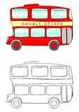 Cartoon double decker Stock Images