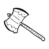 Cartoon double sided axe Royalty Free Stock Photo
