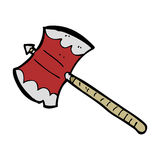 Cartoon double sided axe Stock Images
