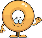 Cartoon Doughnut Waving Stock Photos