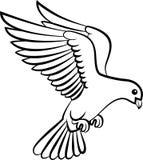 Cartoon Dove birds logo for peace concept and wedding design Stock Images
