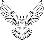 Cartoon Dove birds logo for peace concept and wedding design. Illustration of Cartoon Dove birds logo for peace concept and wedding design Royalty Free Stock Image