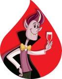 Cartoon Dracula Celebrating Halloween Vector Cartoon Royalty Free Stock Photos