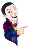 Cartoon Dracula Vampire Pointing Royalty Free Stock Photo
