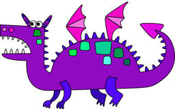 Cartoon dragon. Cartoon colored dragon symbol of new year Royalty Free Stock Image