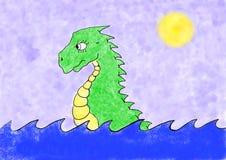 Cartoon dragon Stock Photography