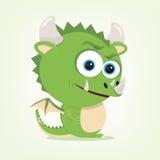Cartoon Dragon. Cartoon of a cute dragon Royalty Free Stock Photo